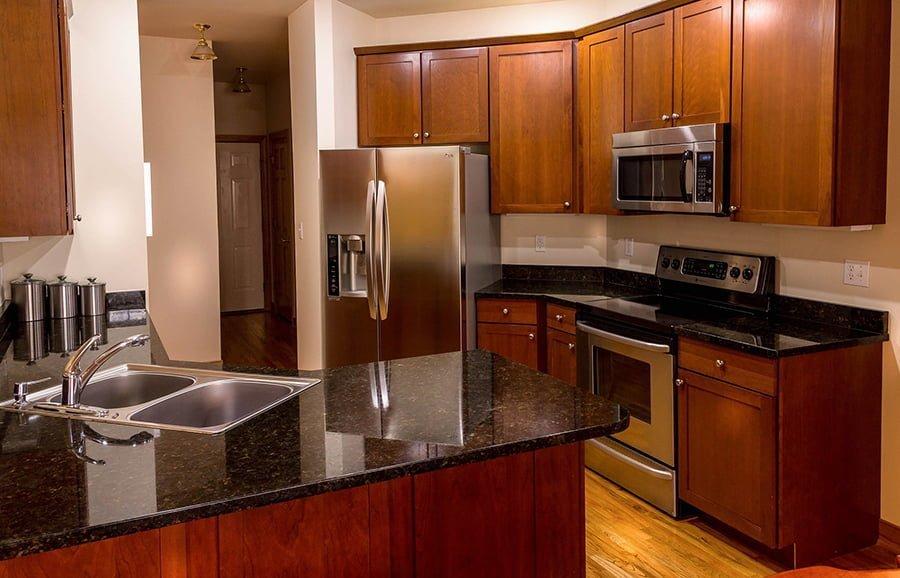 Mid-century modern kitchen cabinets