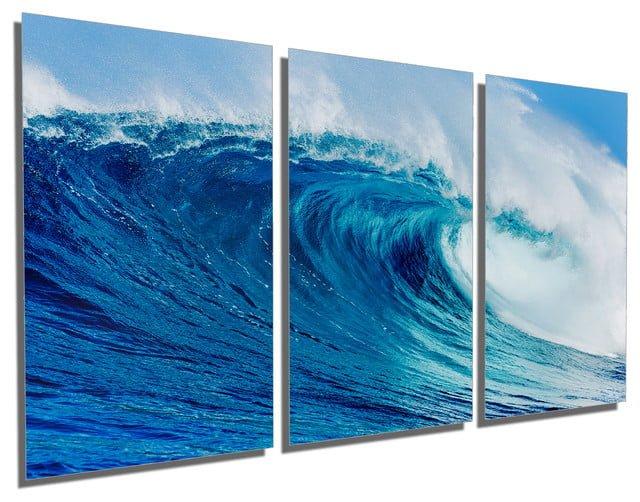 Metal ocean wall art