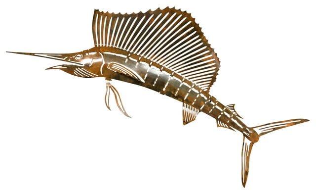 Metal sailfish wall art
