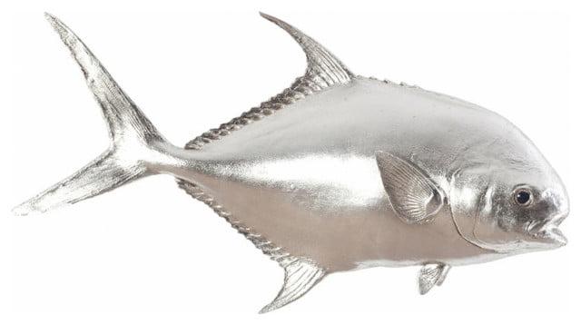 Silver fish wall art