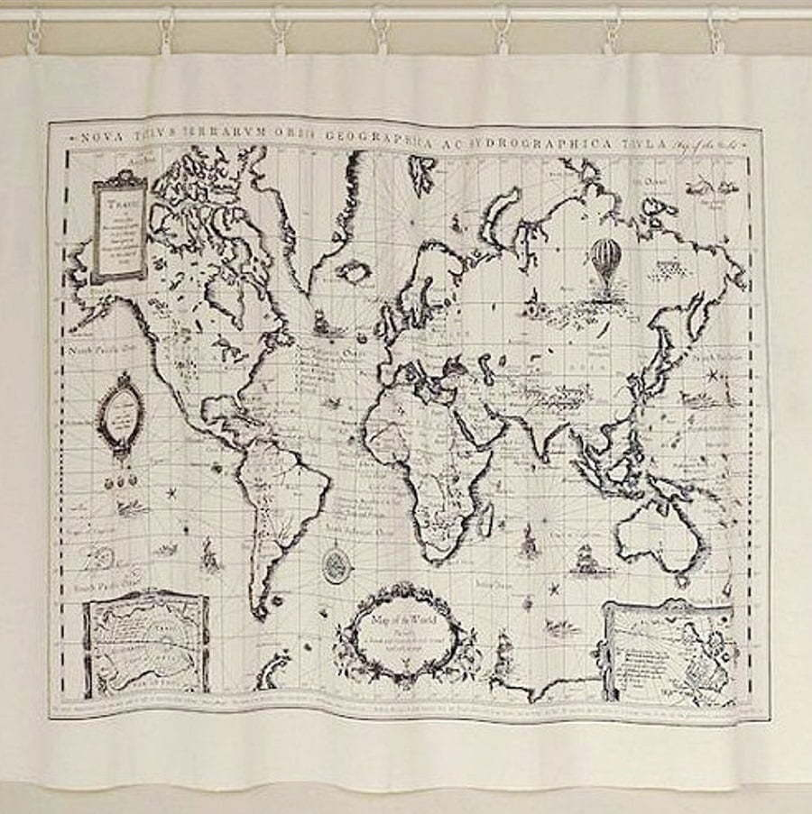 cloth map of the world