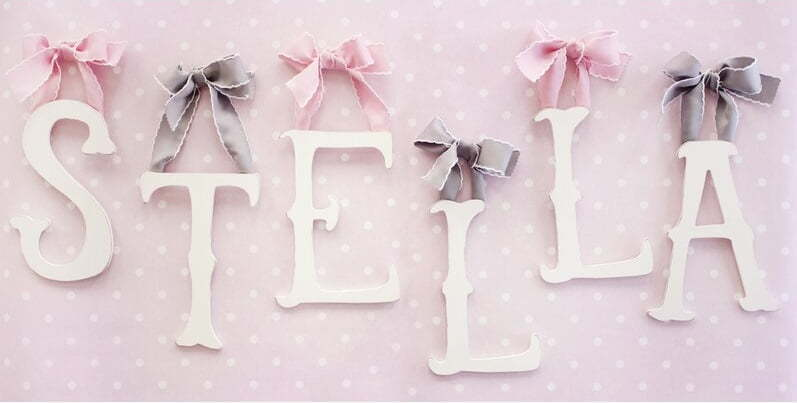 letters with ribbon