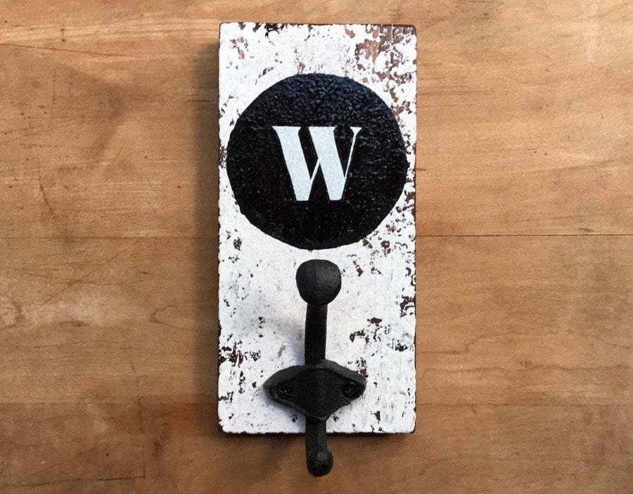 wooden letter hooks
