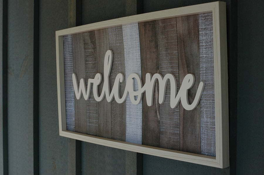 wood sign wall hanging